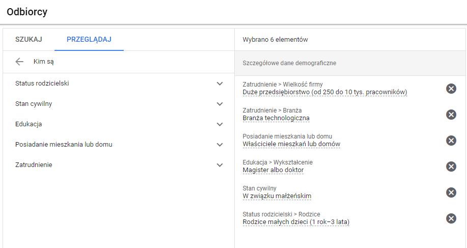 targetowanie demograficzne w google ads
